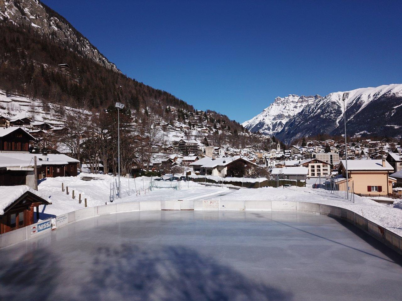 Eisbahn in Salvan