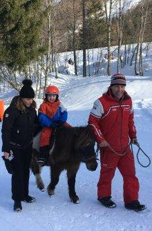 Balade à poney hiver