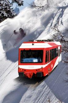Ski und Zug
