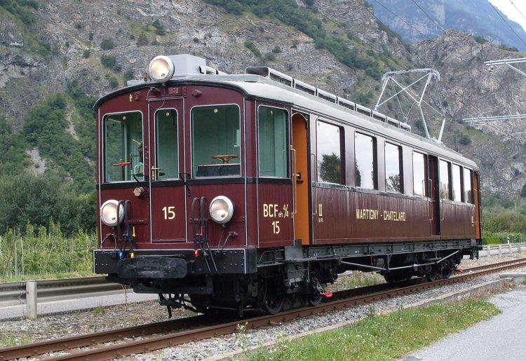 Train nostalgique du Trient
